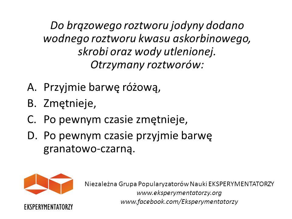 Funkcja biologiczna kwasu askorbinowego Niezależna Grupa Popularyzatorów Nauki EKSPERYMENTATORZY www.eksperymentatorzy.org www.facebook.com/Eksperymentatorzy