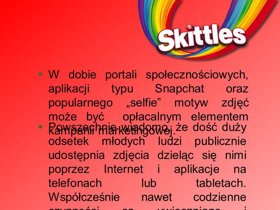 """Z moich obserwacji wynika, że nabywcami cukierków """"Skittles są najczęściej osoby w wieku od ok."""