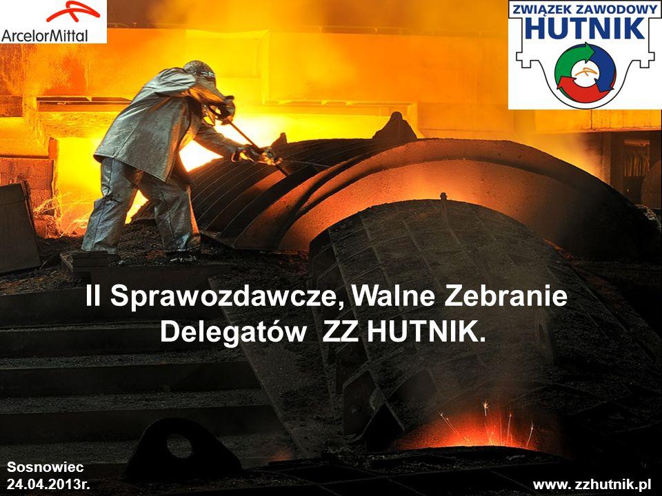 1 II Sprawozdawcze, Walne Zebranie Delegatów ZZ HUTNIK. Sosnowiec 24.04.2013r. www. zzhutnik.pl