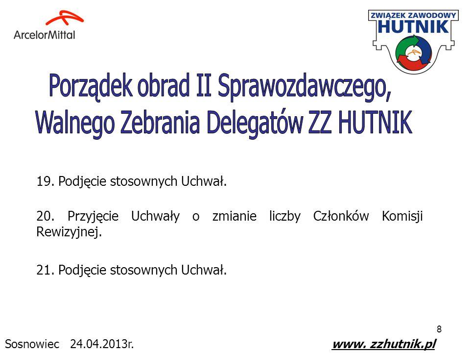 9 22.Przedstawienie przez Komisję Uchwał i Wniosków propozycji zgłoszonych w trakcie obrad.