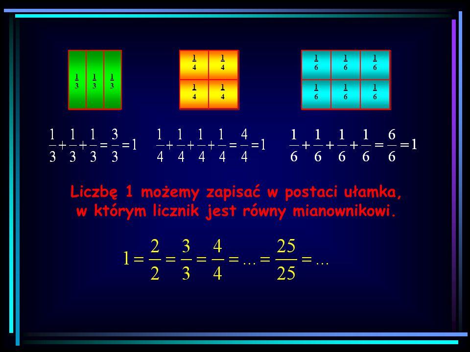 Pojęcie ułamka 1414 Całość podzielono na 4 części. Zaznaczono 1 część. 1313 Całość podzielono na 3 części. Zaznaczono 1 część. UŁAMEK TO CZĘŚĆ CAŁOŚCI