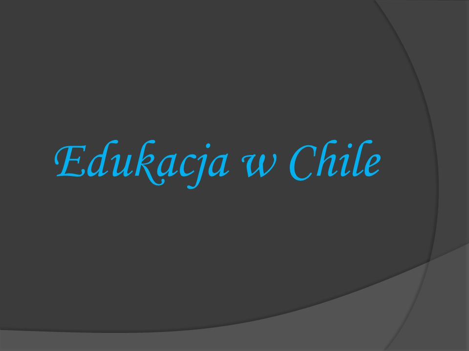 Edukacja w Chile
