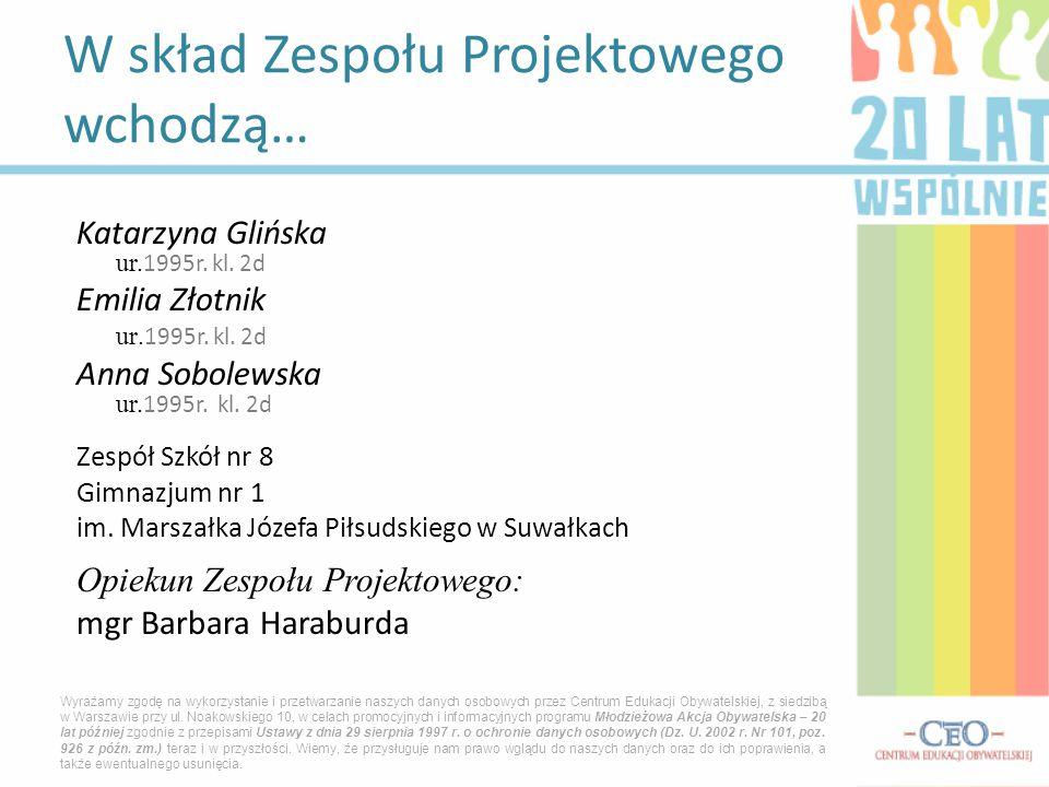 Katarzyna Glińska ur. 1995r. kl. 2d Emilia Złotnik ur.