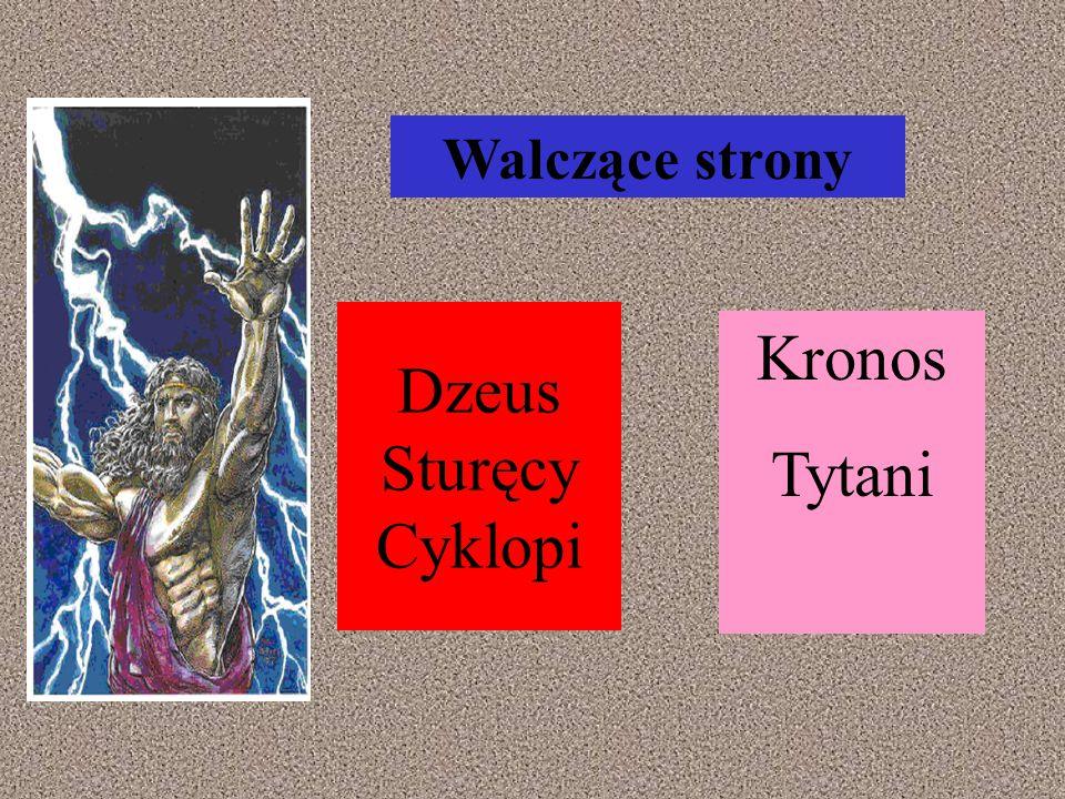 Dzeus Sturęcy Cyklopi Kronos Tytani Walczące strony