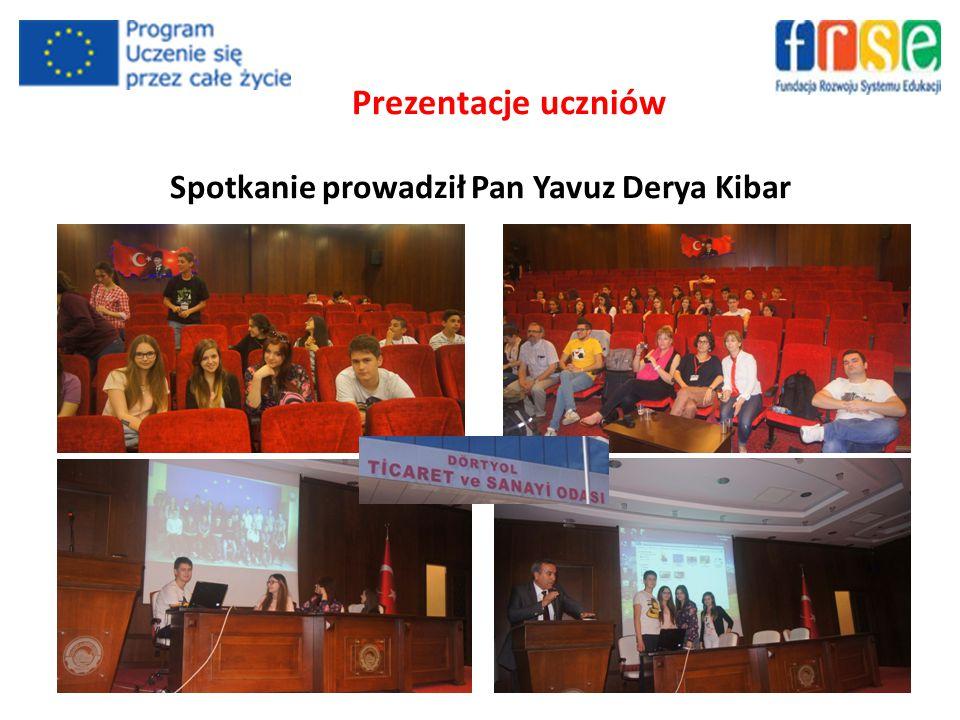 Prezentacje uczniów Spotkanie prowadził Pan Yavuz Derya Kibar