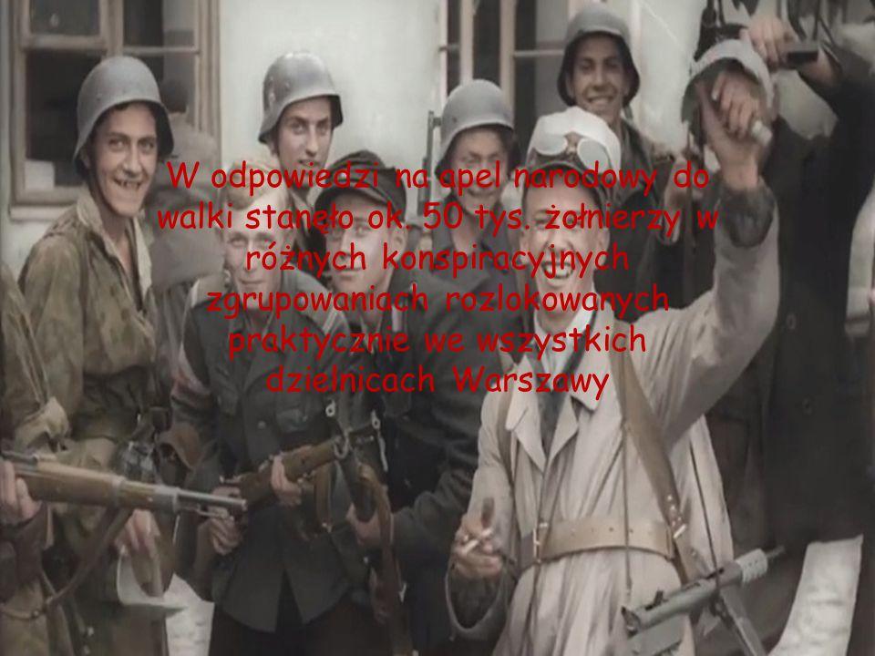 W odpowiedzi na apel narodowy do walki stanęło ok. 50 tys. żołnierzy w różnych konspiracyjnych zgrupowaniach rozlokowanych praktycznie we wszystkich d