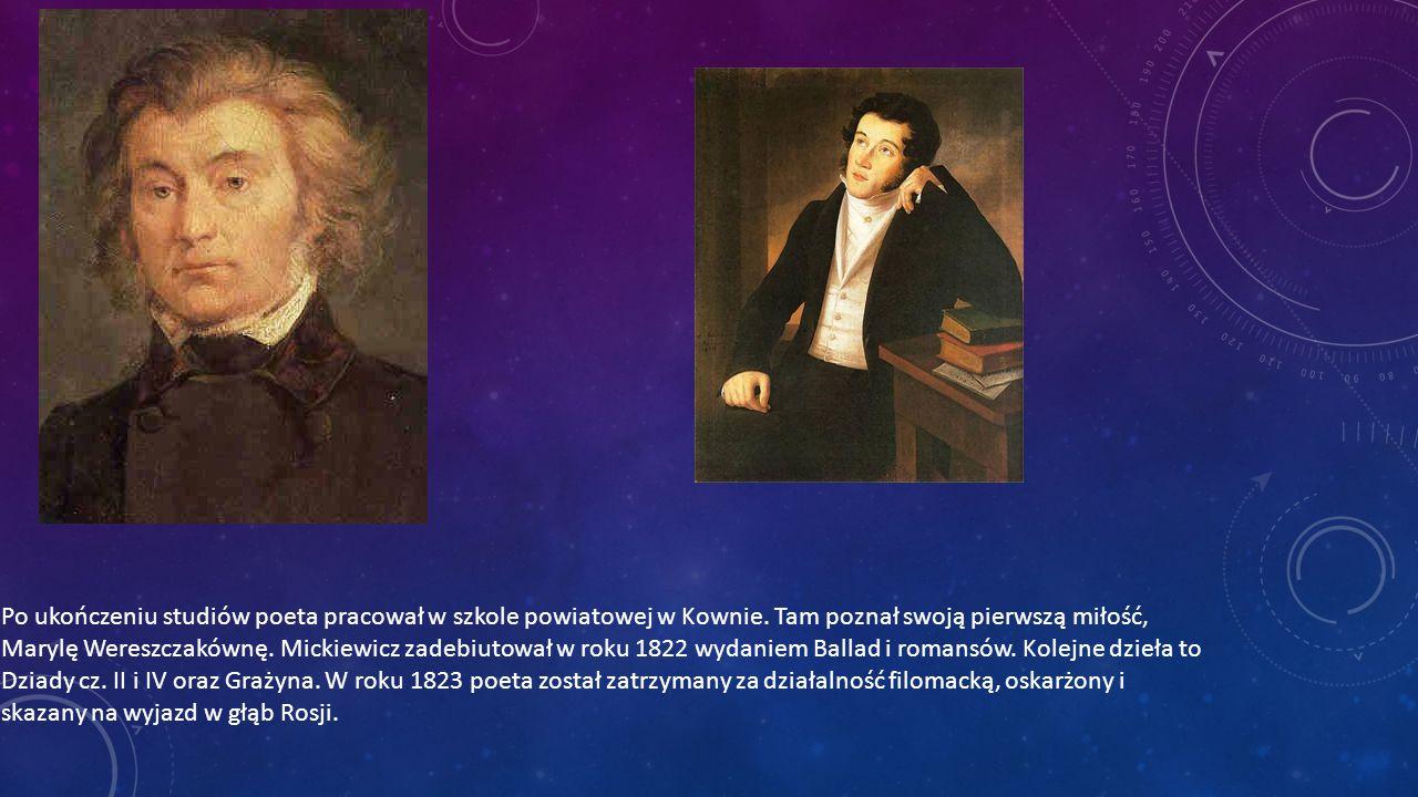 Rok 1824 był początkiem podróży Mickiewicza na Wschód.