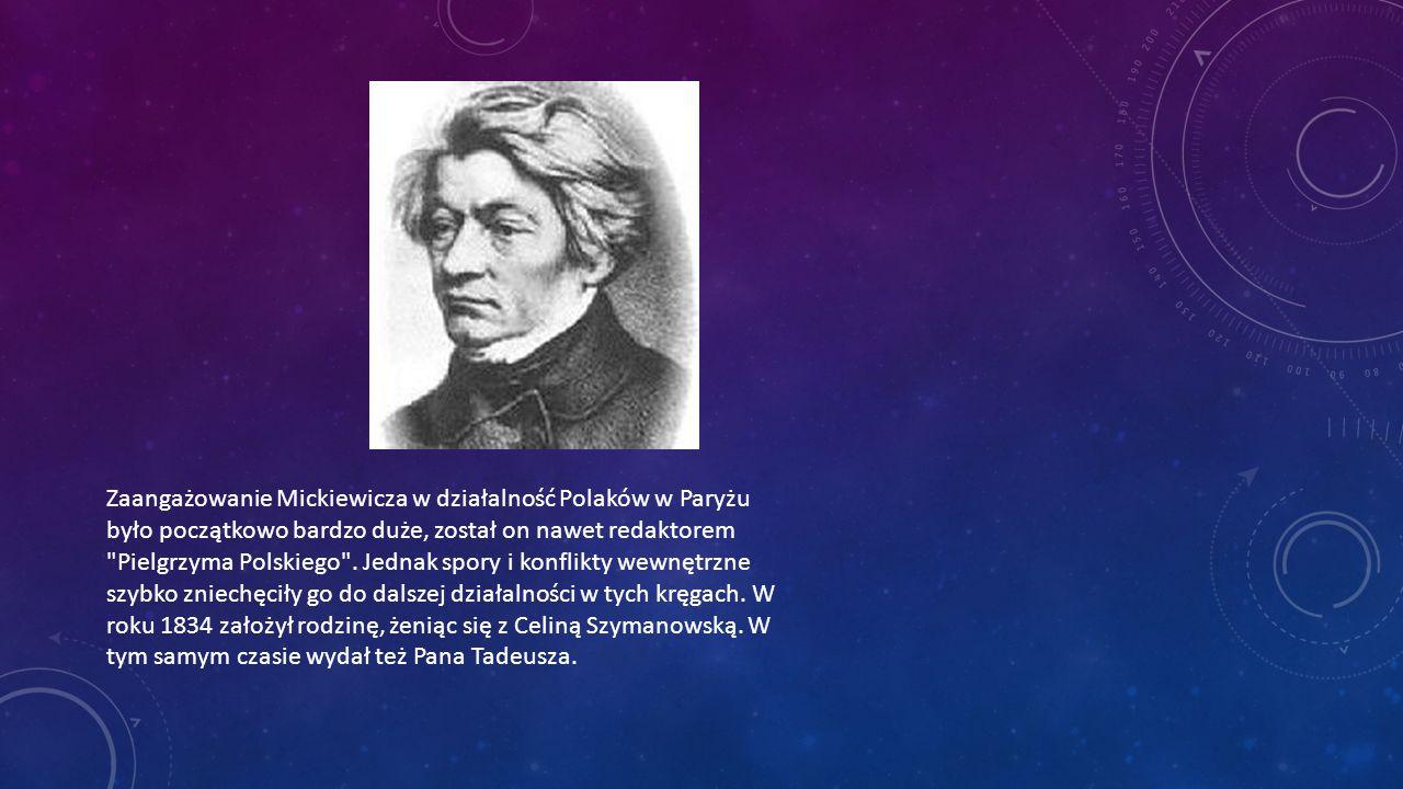 W roku 1839 Mickiewicza na krótki czas wyjechał do Lozanny.