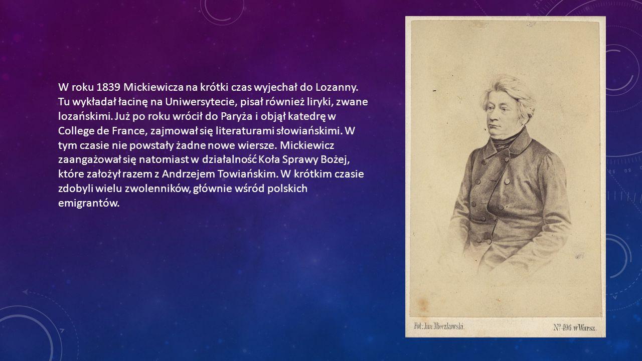 Po wybuchu Wiosny Ludów w roku 1848 Adam Mickiewicz utworzył Legion Polski, który walczył we Włoszech.