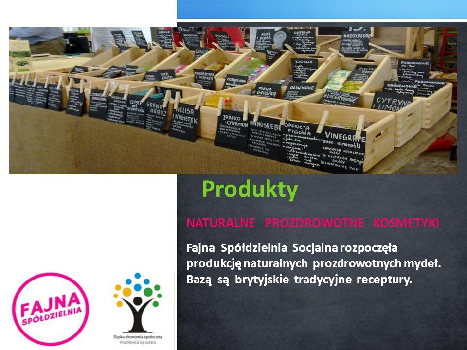 NATURALNE PROZDROWOTNE KOSMETYKI Fajna Spółdzielnia Socjalna rozpoczęła produkcję naturalnych prozdrowotnych mydeł. Bazą są brytyjskie tradycyjne rece