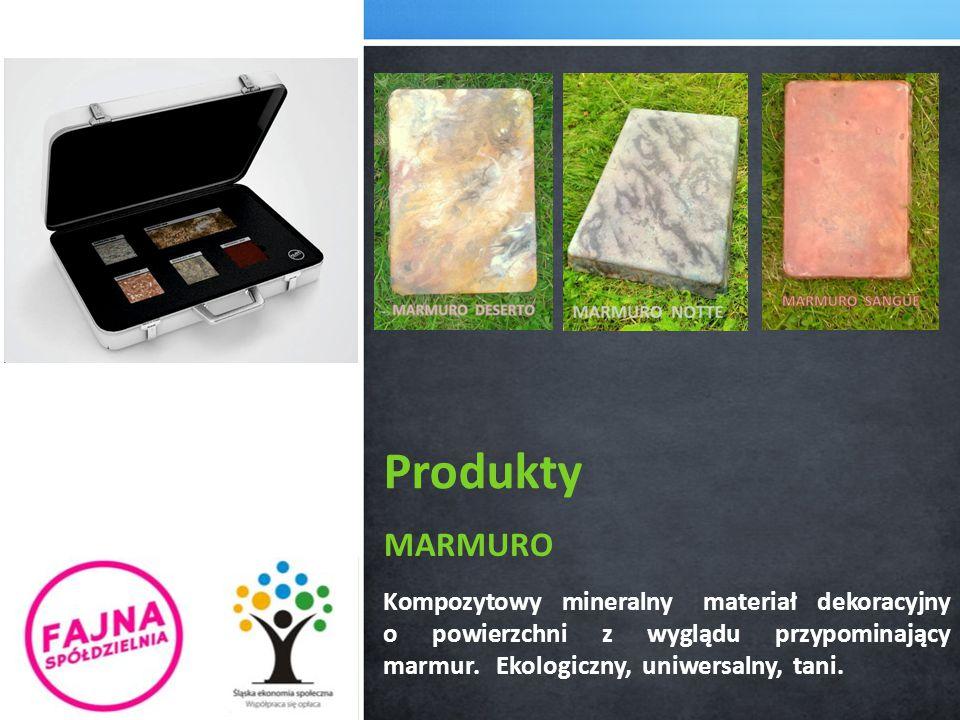 MARMURO Kompozytowy mineralny materiał dekoracyjny o powierzchni z wyglądu przypominający marmur.