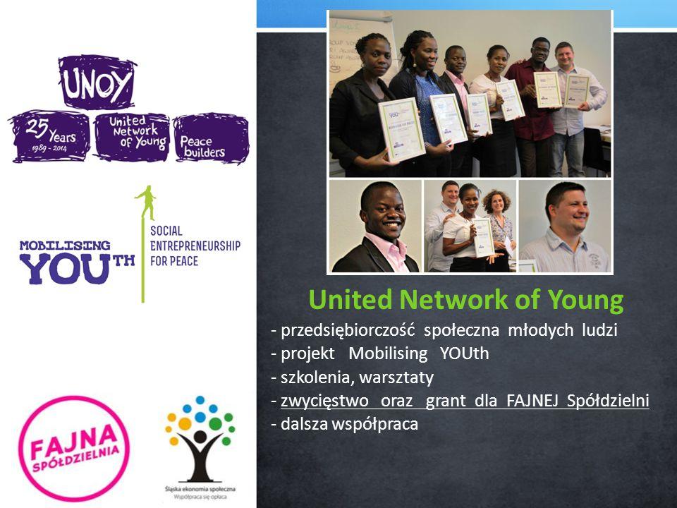 United Network of Young - przedsiębiorczość społeczna młodych ludzi - projekt Mobilising YOUth - szkolenia, warsztaty - zwycięstwo oraz grant dla FAJNEJ Spółdzielni - dalsza współpraca