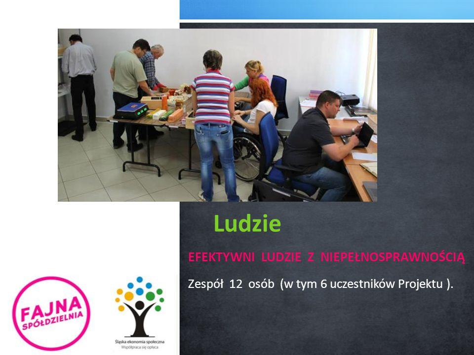 Ludzie EFEKTYWNI LUDZIE Z NIEPEŁNOSPRAWNOŚCIĄ Zespół 12 osób (w tym 6 uczestników Projektu ).