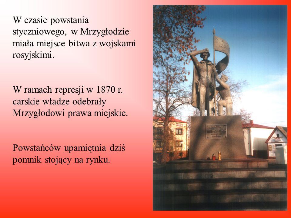 Pierwsze wzmianki o Mrzygłodzie ( obecnie jedna z dzielnic Myszkowa) pochodzą z 1373 r.