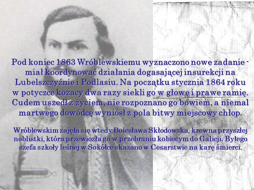 Oddział Wróblewskiego chrzest bojowy przeszedł w bitwie pod Waliłami, która rozegrała się 29 kwietnia. Powstańcy zostali rozbici przez liczniejsze i l