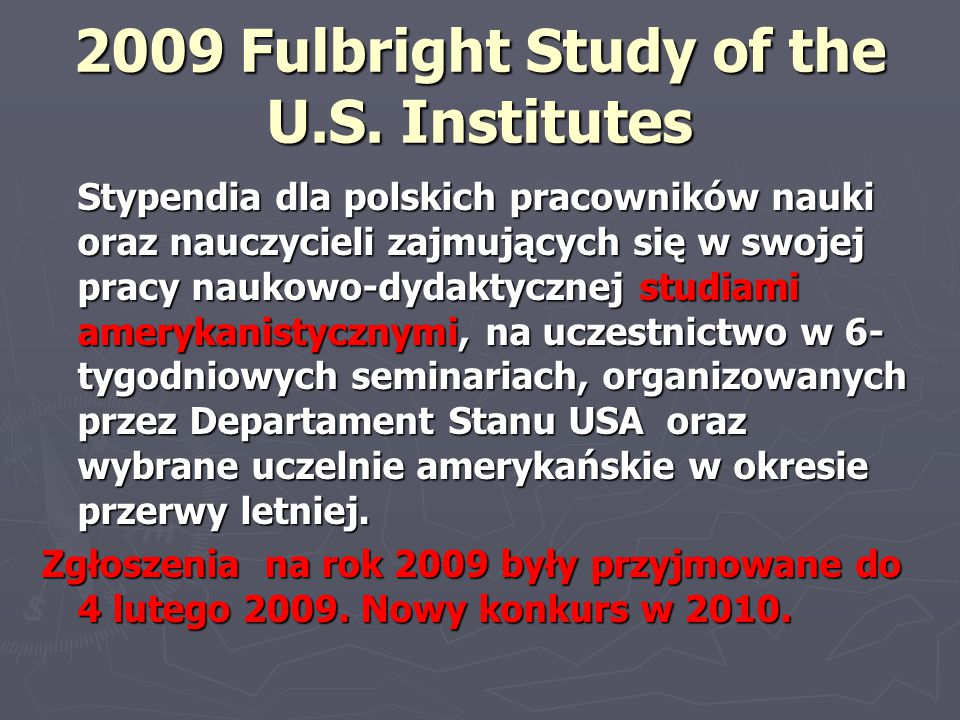 2009 Fulbright Study of the U.S.