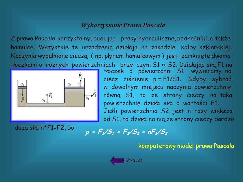 Z prawa Pascala korzystamy, budując prasy hydrauliczne, podnośniki, a także hamulce.