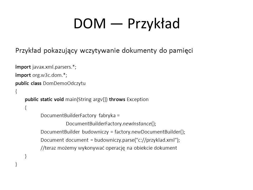Koniec 1.Napisz program, który utworzy dokument XML z twoimi danymi osobowymi i zapisze ten dokument na dysku.