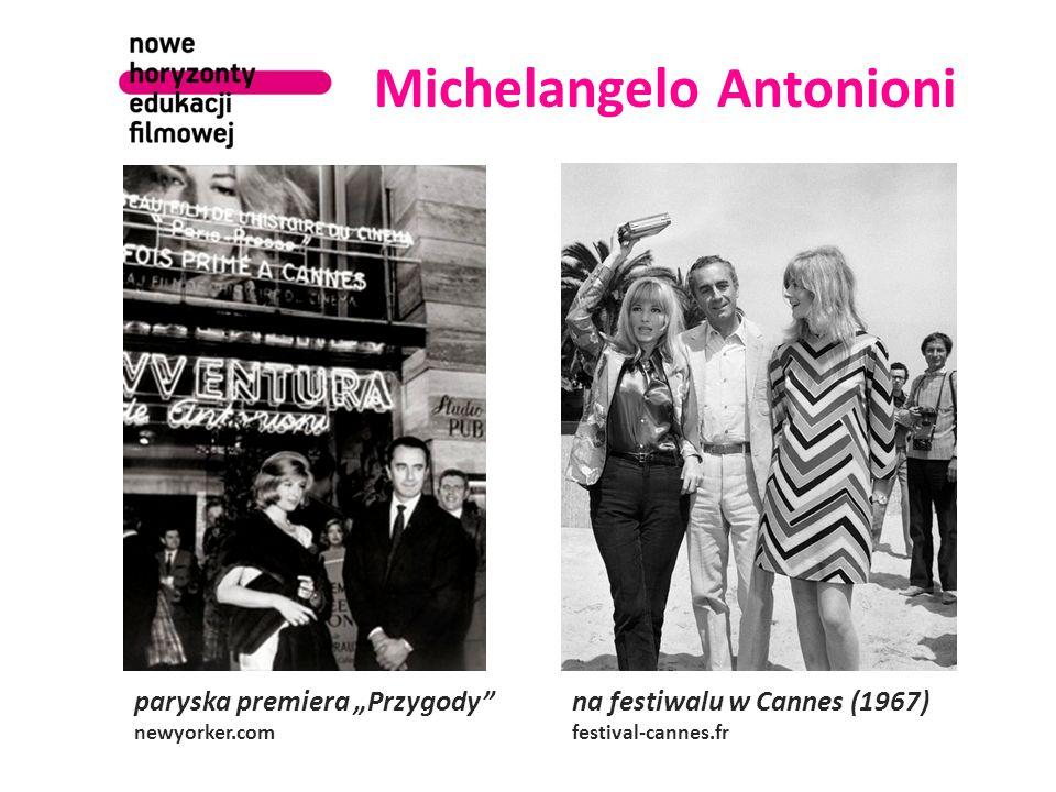 """Michelangelo Antonioni paryska premiera """"Przygody newyorker.com na festiwalu w Cannes (1967) festival-cannes.fr"""