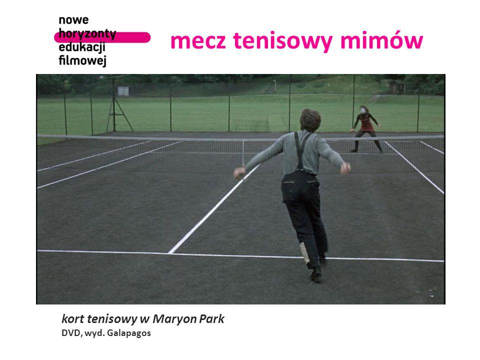 mecz tenisowy mimów kort tenisowy w Maryon Park DVD, wyd. Galapagos