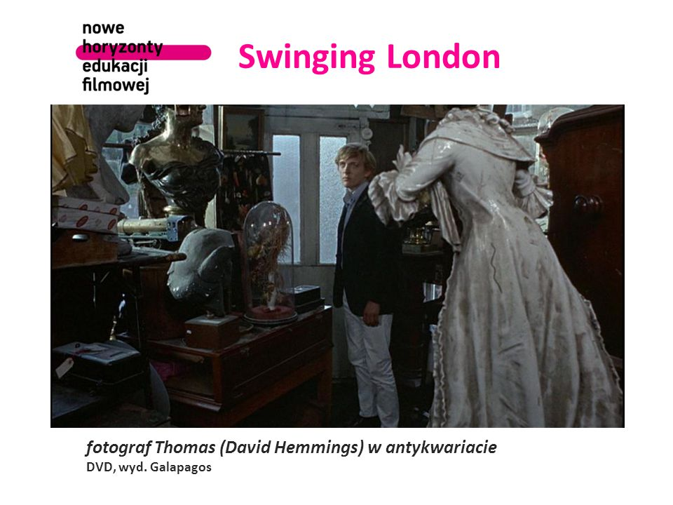 Swinging London fotograf Thomas (David Hemmings) w antykwariacie DVD, wyd. Galapagos