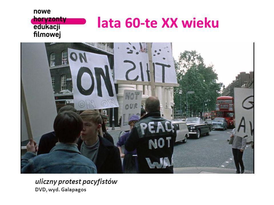 l ata 60-te XX wieku uliczny protest pacyfistów DVD, wyd. Galapagos