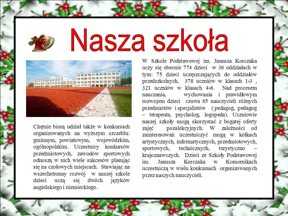 W Szkole Podstawowej im. Janusza Korczaka uczy się obecnie 774 dzieci w 36 oddziałach w tym: 75 dzieci uczęszczających do oddziałów przedszkolnych, 37