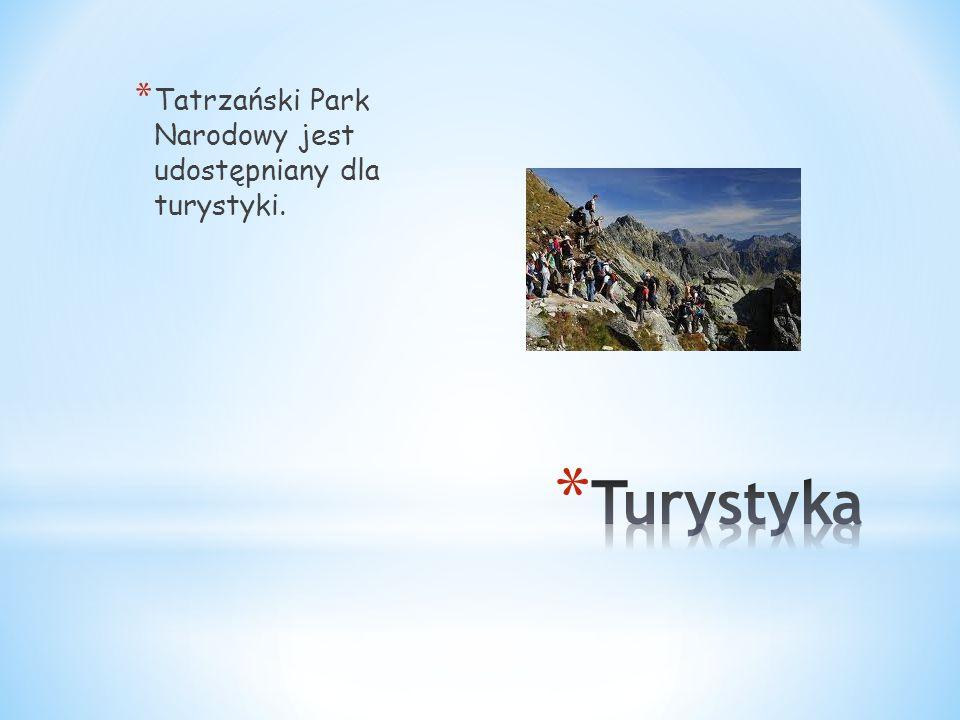 * Tatrzański Park Narodowy jest udostępniany dla turystyki.