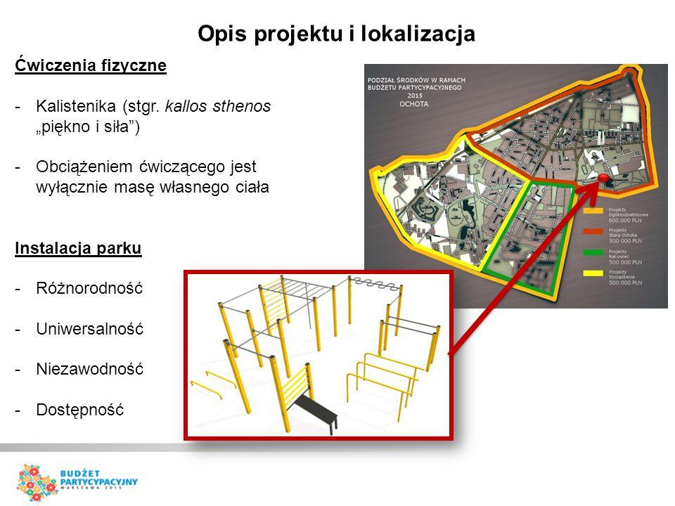 """Ćwiczenia fizyczne -Kalistenika (stgr. kallos sthenos """"piękno i siła"""") -Obciążeniem ćwiczącego jest wyłącznie masę własnego ciała Instalacja parku -Ró"""