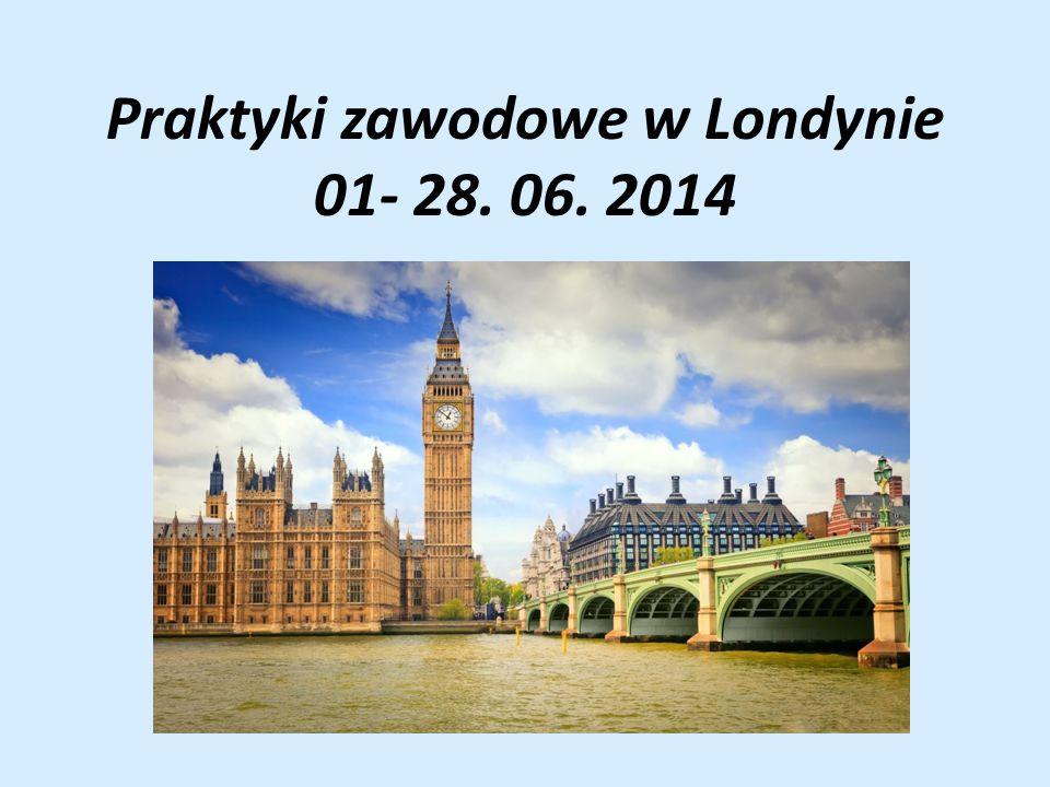 Praktyki zawodowe w Londynie 01- 28. 06. 2014