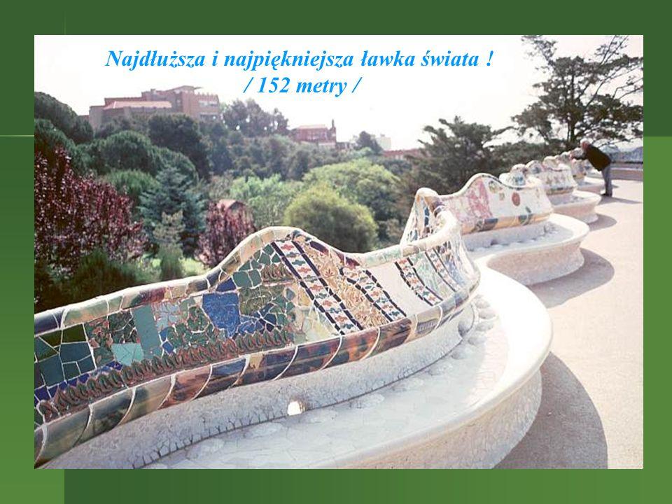 Najdłuższa i najpiękniejsza ławka świata ! / 152 metry /