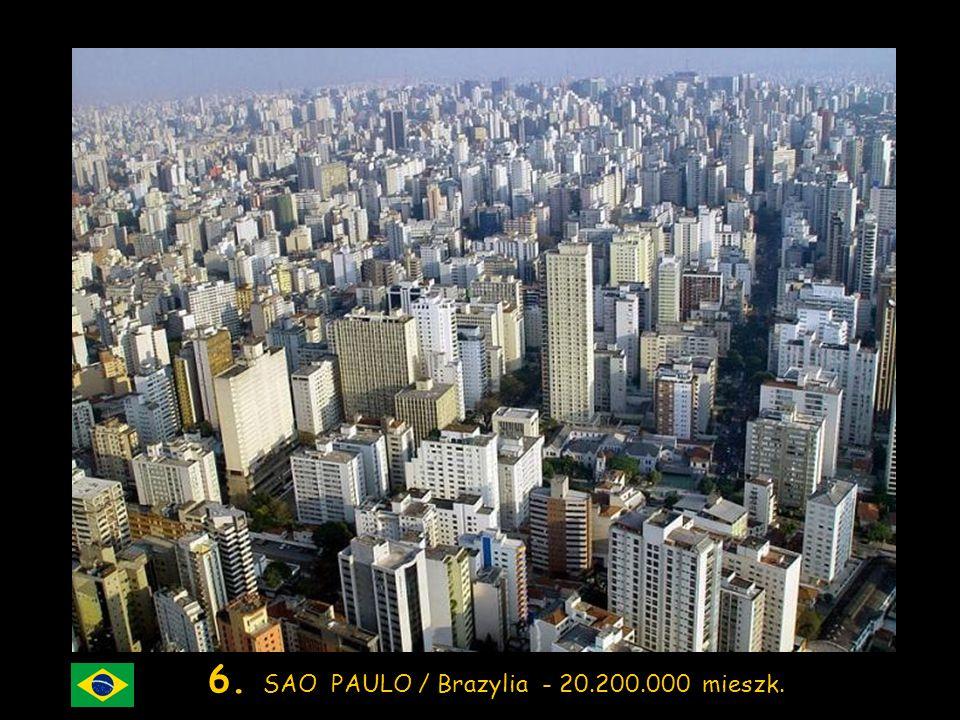 7. MUMBAI (Bombay) / Indie – 19.700.000 mieszk.