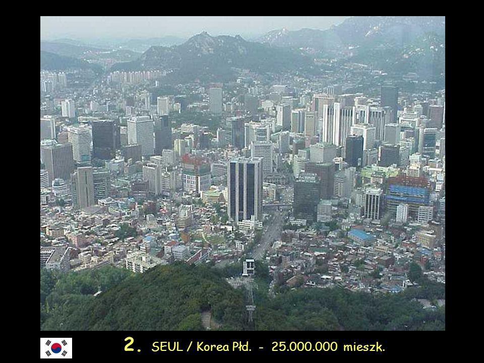 3. SHANGHAI / Chiny - 23.700.000 mieszk.