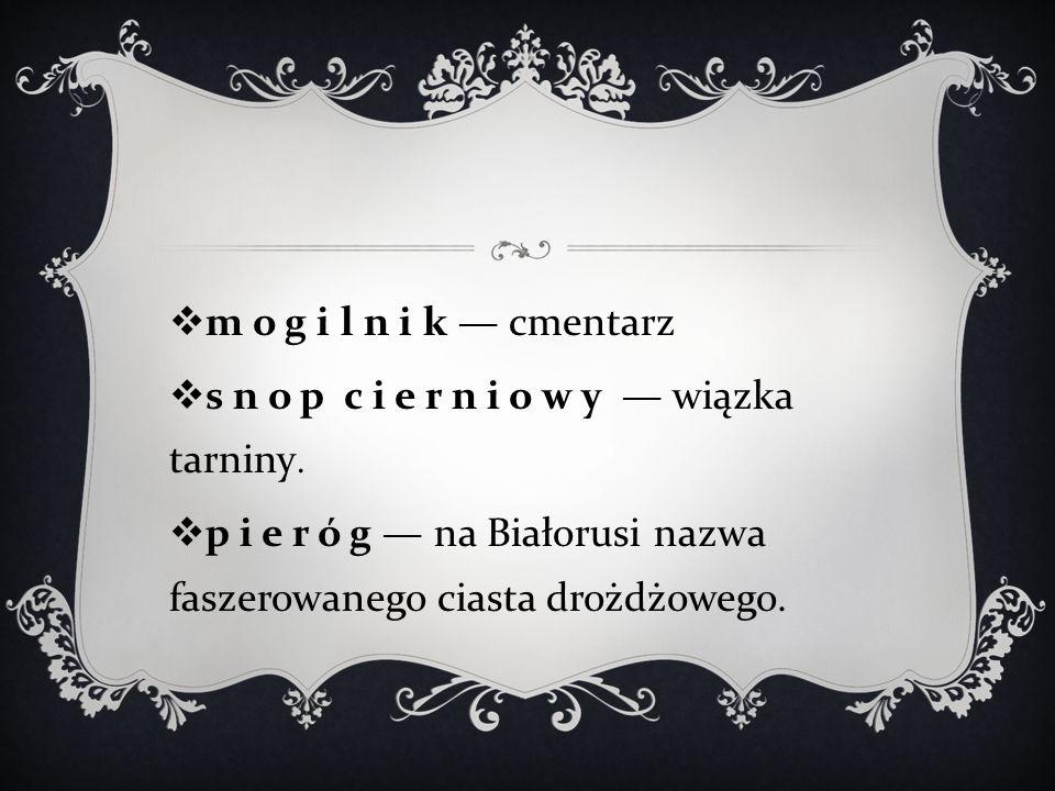  m o g i l n i k — cmentarz  s n o p c i e r n i o w y — wiązka tarniny.
