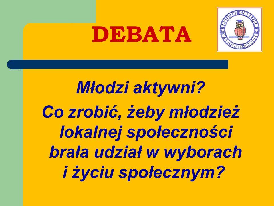 DEBATA Młodzi aktywni.