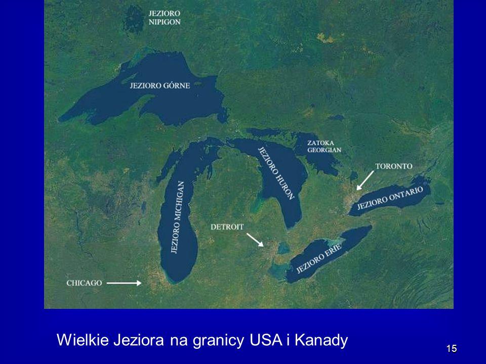 15 Wielkie Jeziora na granicy USA i Kanady