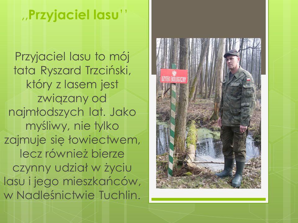 ,, Przyjaciel lasu '' Przyjaciel lasu to mój tata Ryszard Trzciński, który z lasem jest związany od najmłodszych lat.