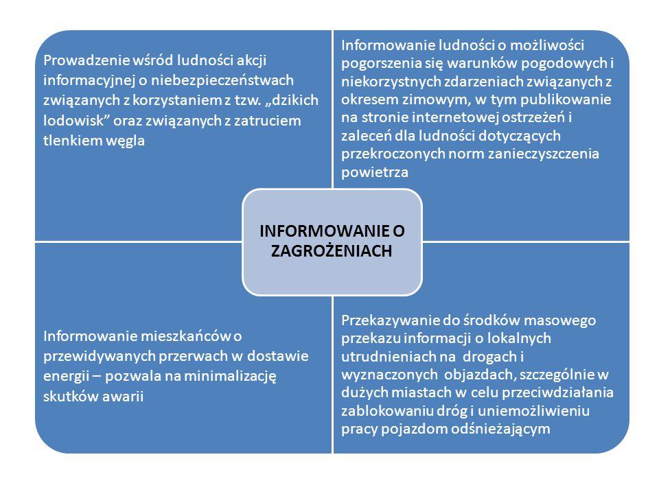 """Prowadzenie wśród ludności akcji informacyjnej o niebezpieczeństwach związanych z korzystaniem z tzw. """"dzikich lodowisk"""" oraz związanych z zatruciem t"""