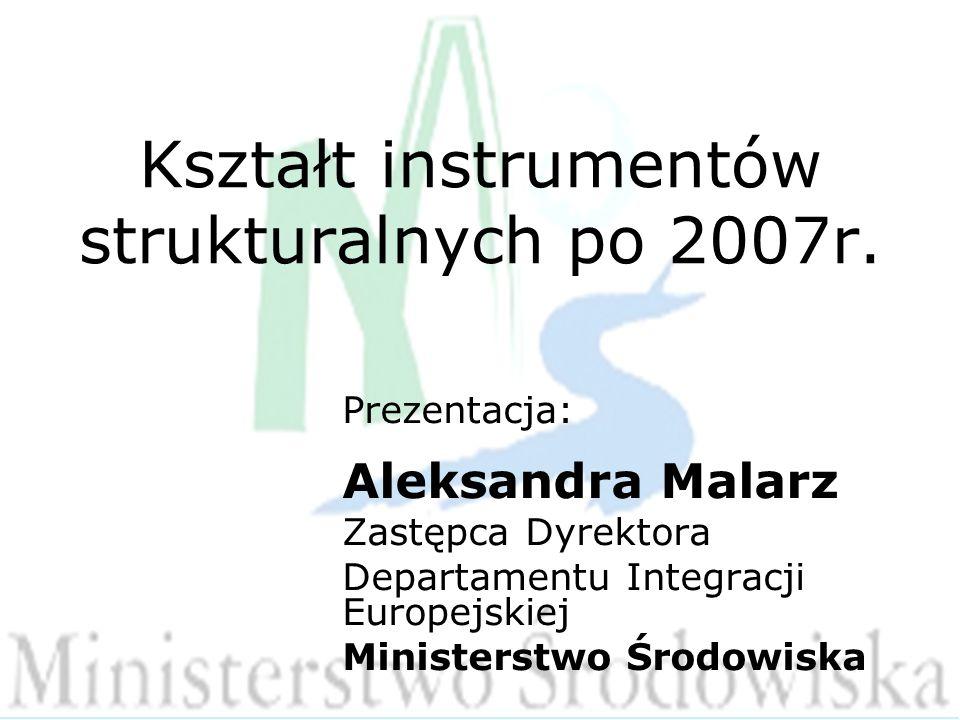 Kształt instrumentów strukturalnych po 2007r.