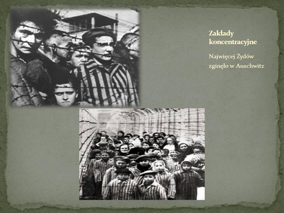 Najwięcej Żydów zginęło w Auschwitz