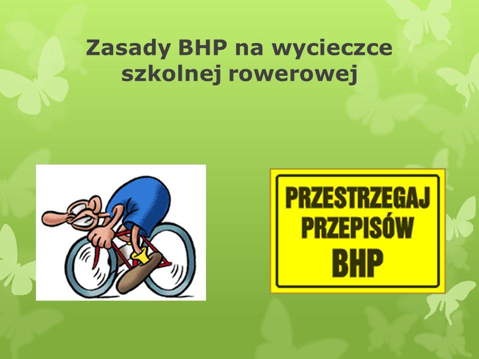 Zasady BHP na wycieczce szkolnej rowerowej