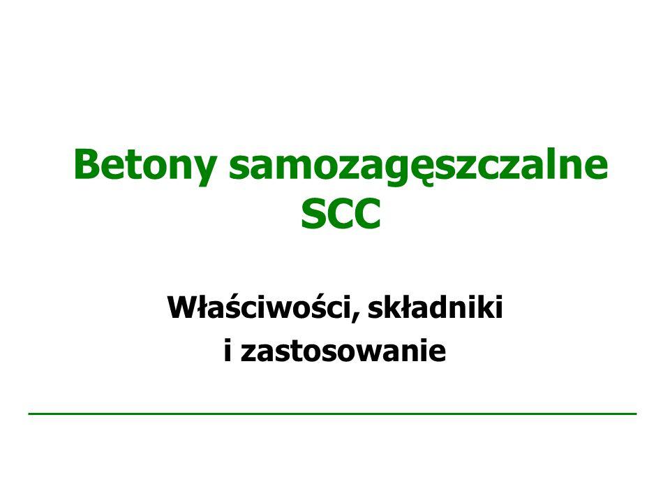 Betony samozagęszczalne SCC Właściwości, składniki i zastosowanie