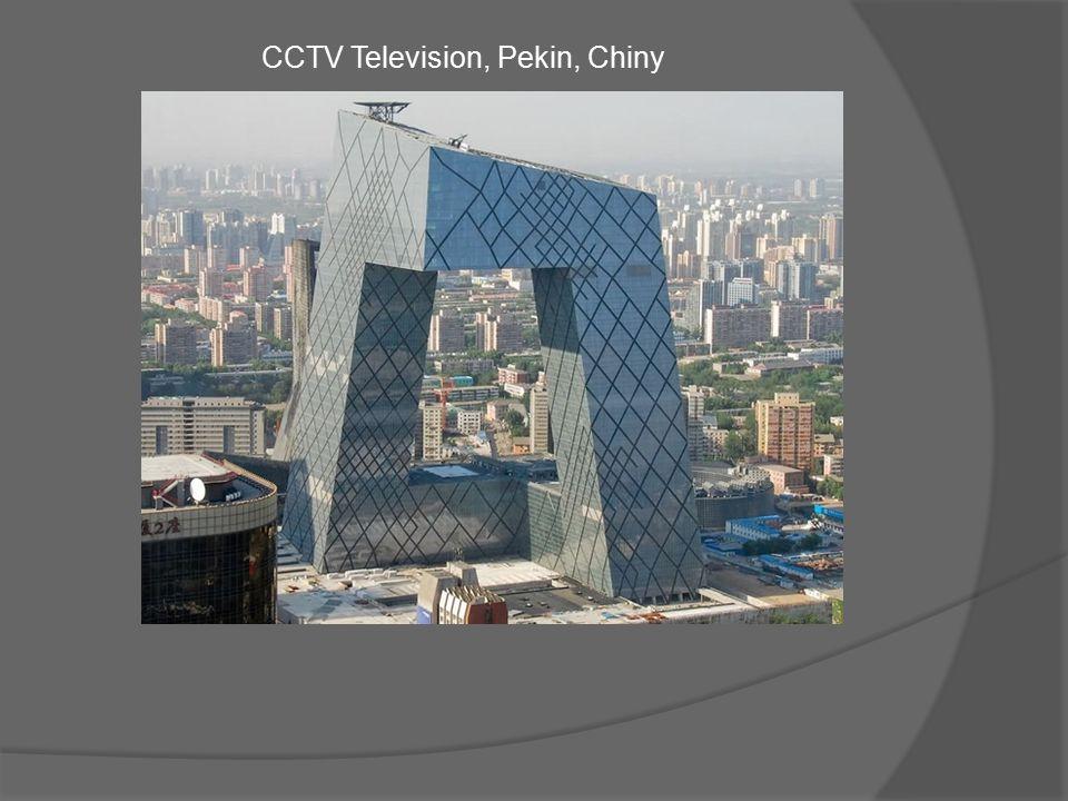 Budowa siedziby Centralnej Telewizji Chińskiej trwała 4 lata.