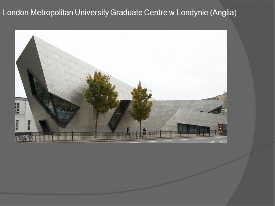 Przełamujący konwencje starych londyńskich uniwersytetów, budynek London Metropolitan Unversity Graduate Centre to prawdziwe dzieło sztuki.