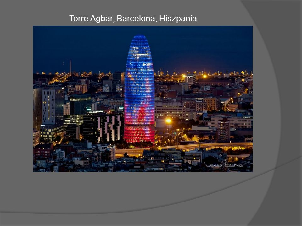 Torre Agbar, Barcelona, Hiszpania