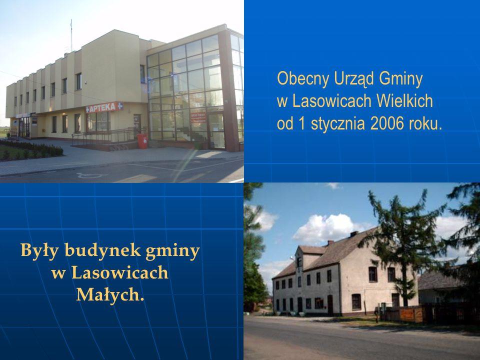 Obecny Urząd Gminy w Lasowicach Wielkich od 1 stycznia 2006 roku. Były budynek gminy w Lasowicach Małych.