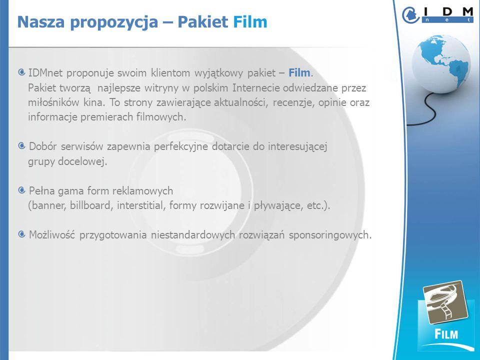 IDMnet proponuje swoim klientom wyjątkowy pakiet – Film.