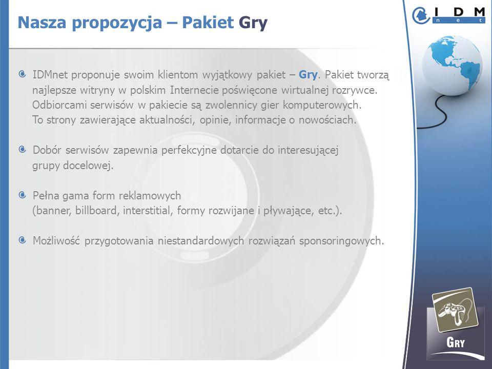 IDMnet proponuje swoim klientom wyjątkowy pakiet – Gry.