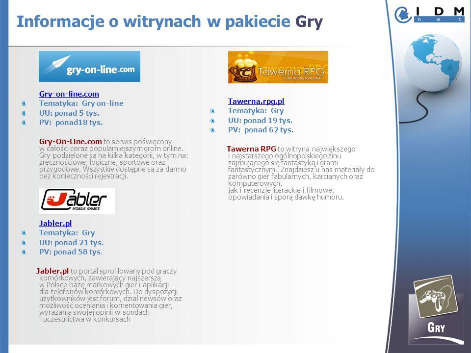 Gry-on-line.com Tematyka: Gry on-line UU: ponad 5 tys.