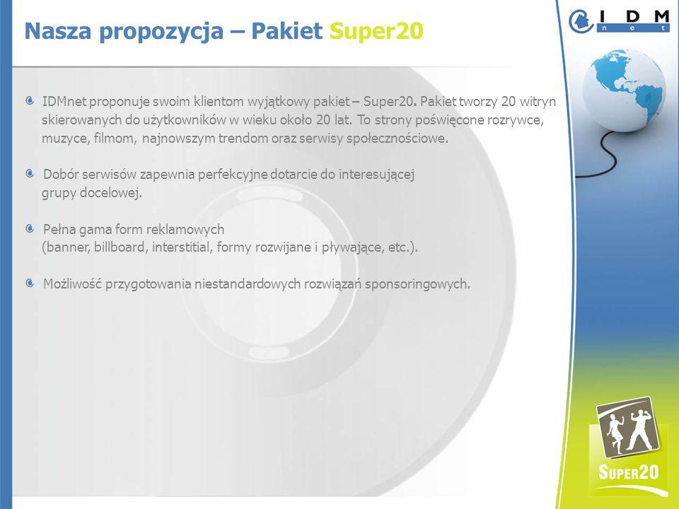 IDMnet proponuje swoim klientom wyjątkowy pakiet – Super20.